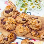 Peanut Butter Chocolate Brezel Cookies