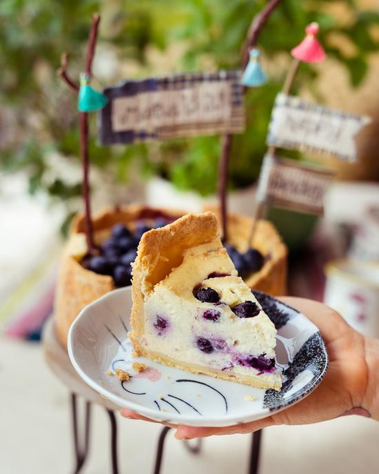 Ich habe für diesen Mini NY Cheesecake Blaubeeren verwendet