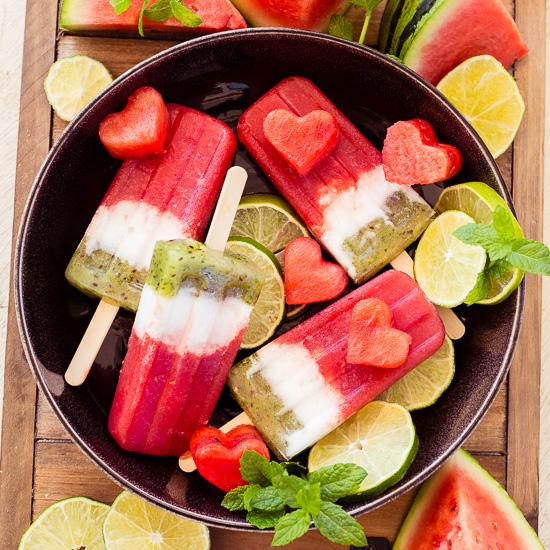 Wassermelonen Eis am Stil