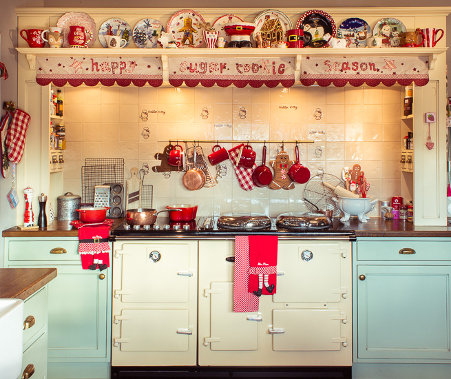 Meine Küche im Rosa Haus zur Weihnachtszeit
