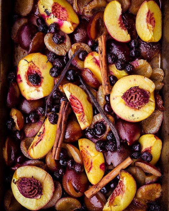 Gebackenes Obst gibt es bei uns so gut wie jeden Tag zum Frühstück