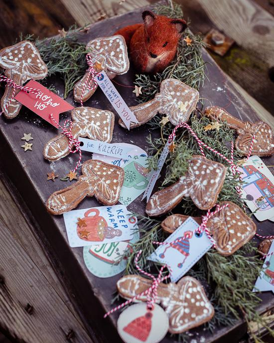 Die ganzen Anhänger für die Mushroom Cookies findest Du in meinem Weihnachts Bastelset