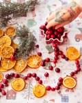 Orangenscheiben Cranberry Girlande
