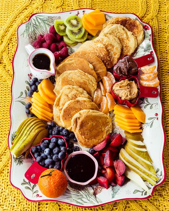 Zum Nikolaus Frühstück habe ich ein Pancake Board hingerichtet