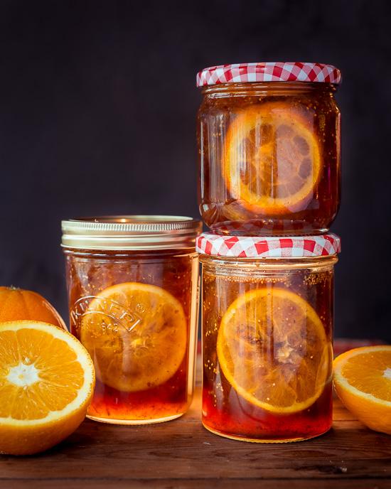 Ich habe mir leckere Orangen Feigen Marmelade gemacht