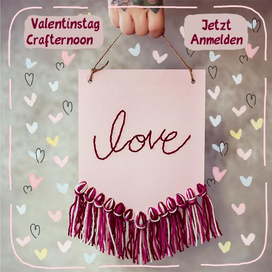 Es gibt zwei Termine für Crafternoons zum Valentinstag