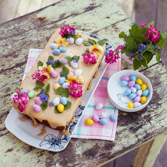 So sieht mein Österlicher Simnel Früchtekuchen aus