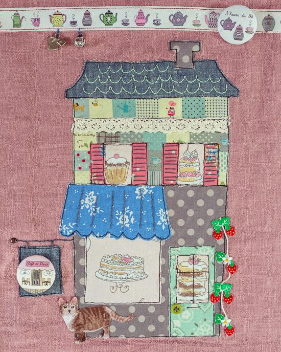 Dieses genähte Cafe wird auf jeden Fall ne Foto Seite in meinem neuen Buch Craften Mit Love