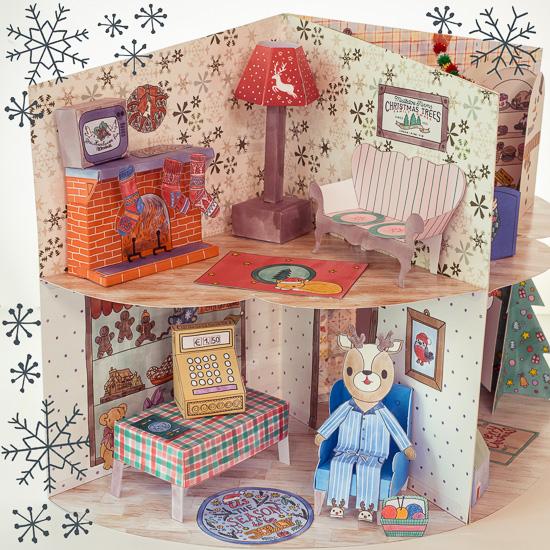 Das ist die Seite vom Weihnachtshaus in der Boris seinen Candy Shop hat