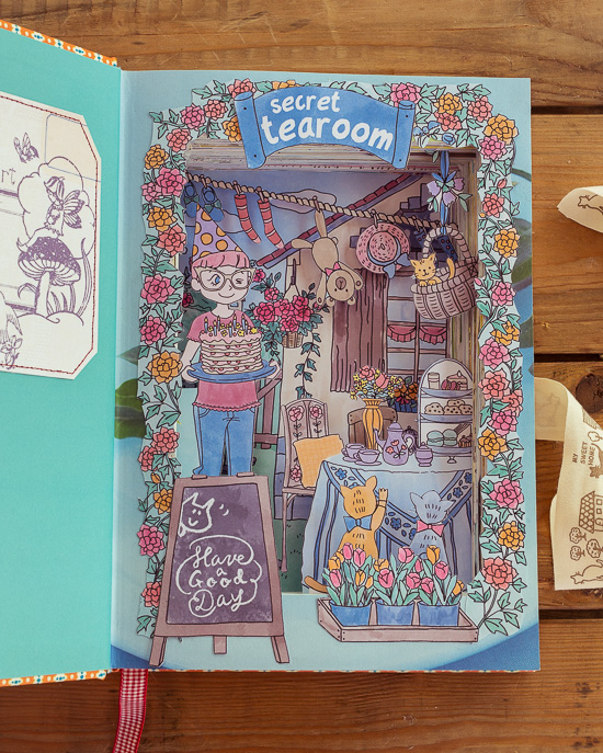 Das Booksafe Projekt Secret Tearoom aus Craften Mit Love