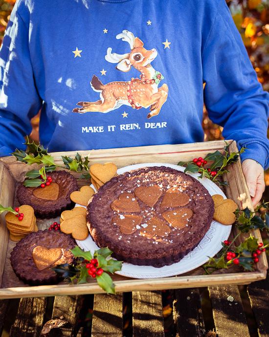 Der Chocolate Pie aus Backen mit Love mit Lebkuchenherzen