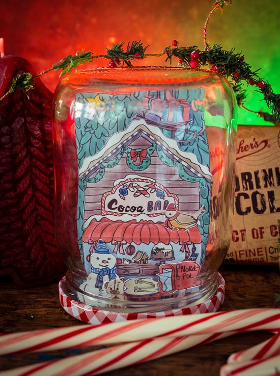 Die Hot Cocoa Bar aus Craften Mit Love in einem Glas