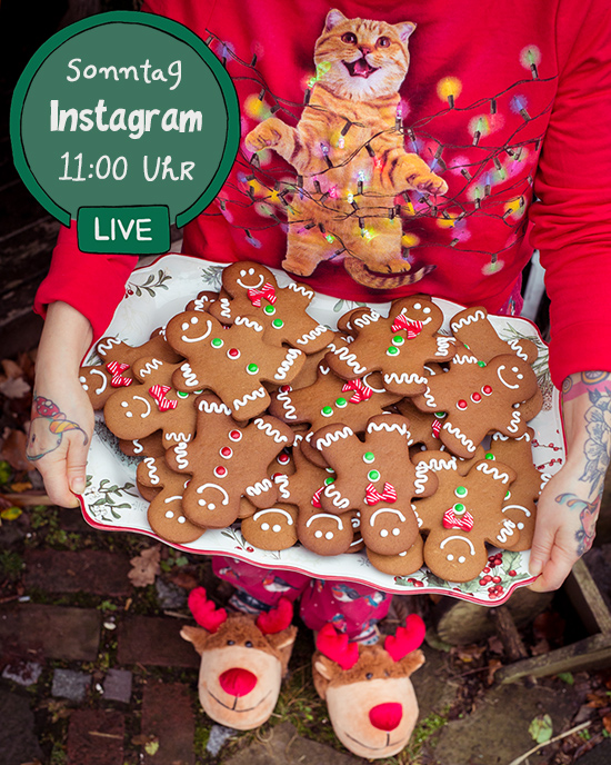 Am Sonntag machen wir ein Instagram Live Backen