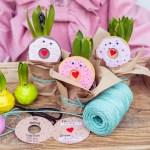 Donutkarten Hyazinthen als kleines Geschenk