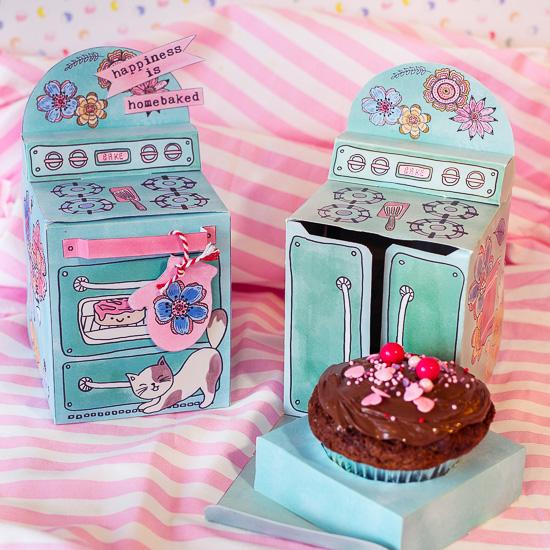 Die Muffin Box aus meinem Bastelbuch Craften mit Love