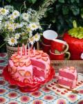 Pinke Erdbeer Torte