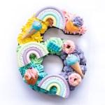 Pastell Zahlenkuchen Regenbogen