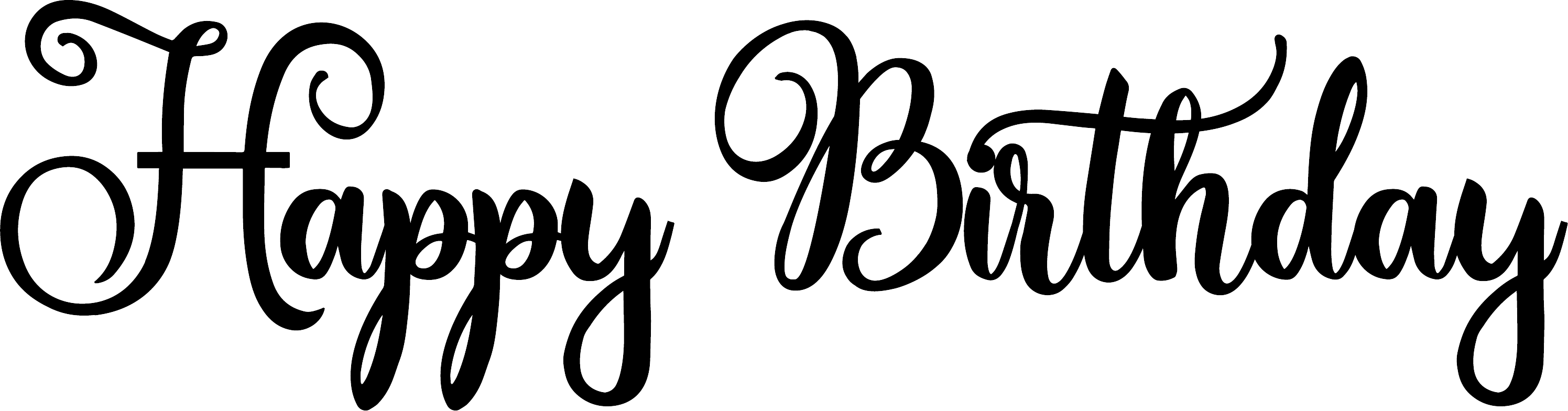 Happy Birthday Word Art Amastery Script