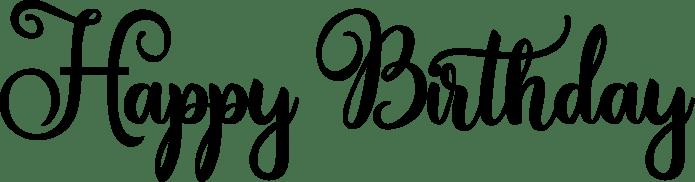 Happy Birthday Word Art Amastery Script
