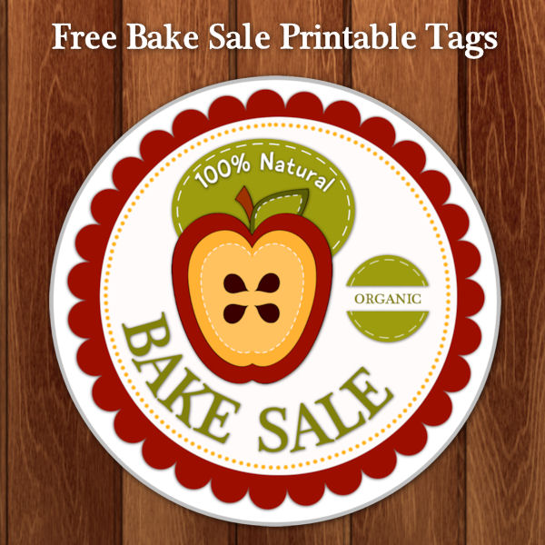 Organic Apple Bake Sale Tags