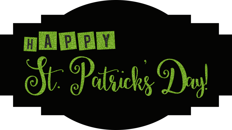 St. Patrick's Day Label Free