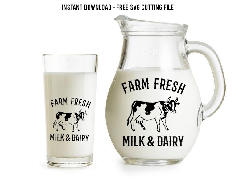 farm fresh milk svg