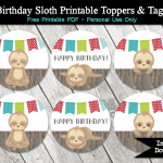 sloth birthday party free download