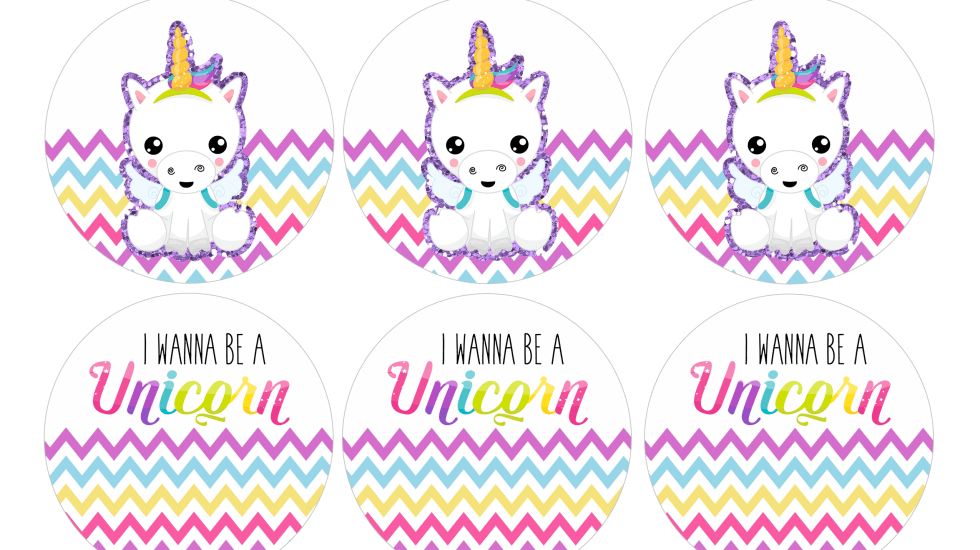 unicorn cupcake toppers free download