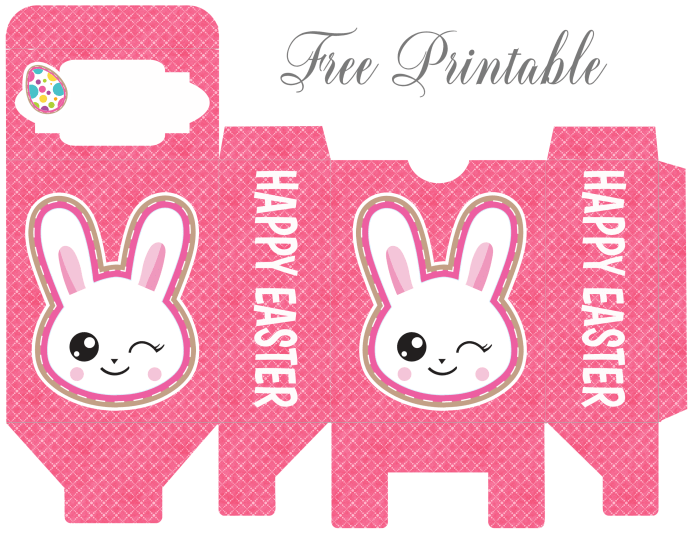 Easter printables cutecrafting adorable emoji bunny rabbits decorate these printable easter favor boxes the hot pink background really makes the emoji pop out from a distance negle Choice Image