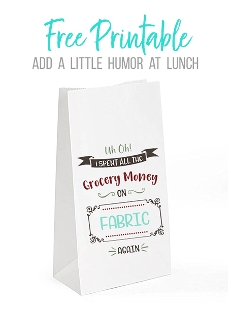 DIY Lunch Sack Printable
