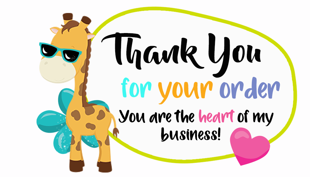 Thank You For Your Order Giraffe