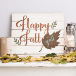 Happy Fall Y'all SVG Cut File Free Download