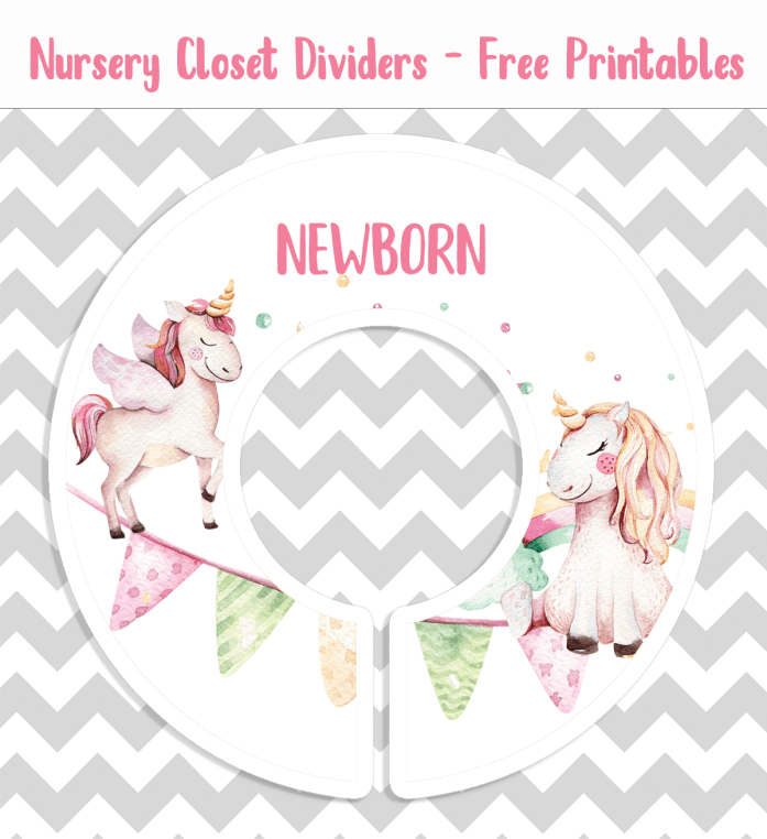 Unicorn Closet Divider Printable