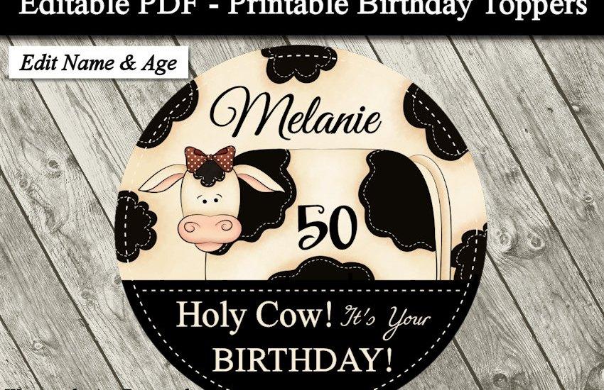 Country Farm Cow Printable