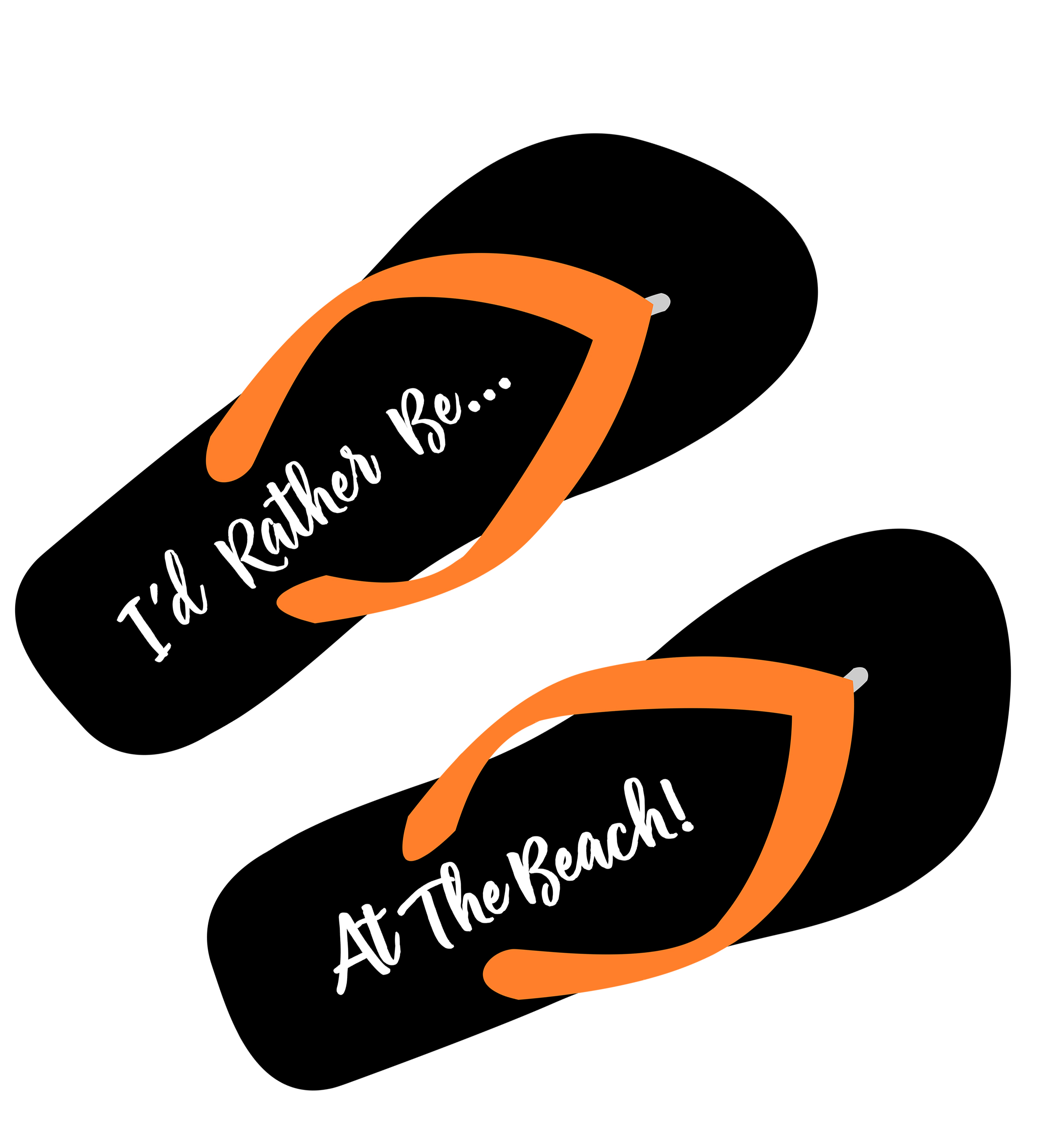 1120a8b02 Free Flip Flops SVG I d Rather Be At The Beach Cut File