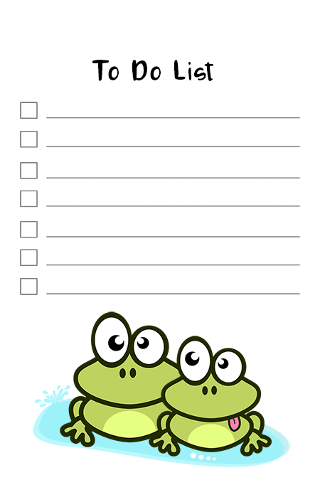 free funny frog to do list