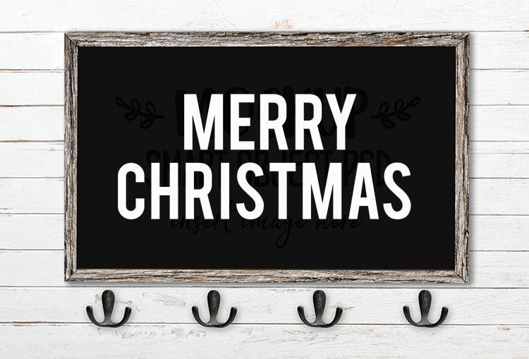 merry christmas svg word art bebas