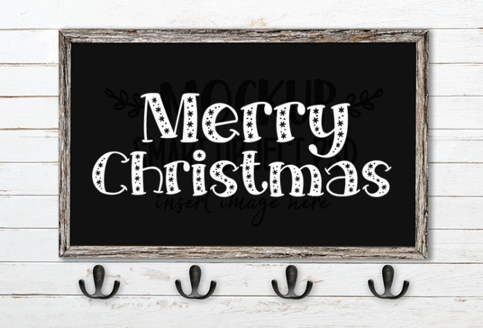 Merry Christmas SVG Word Art Big Frost