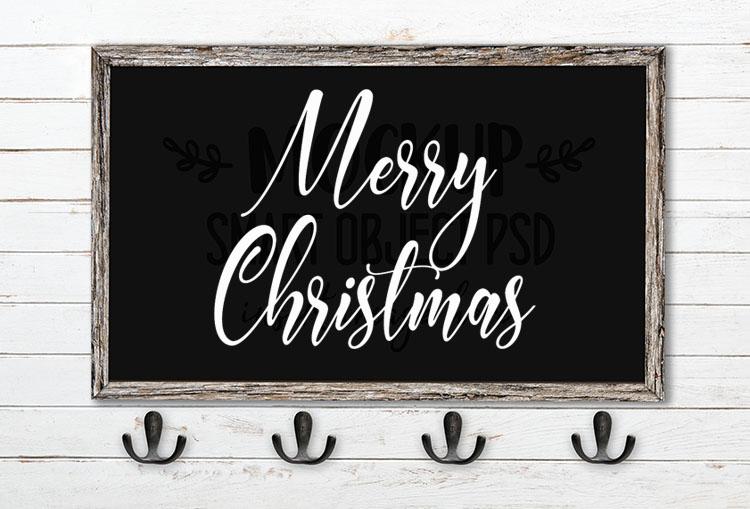 Merry Christmas SVG Word Art Carlington