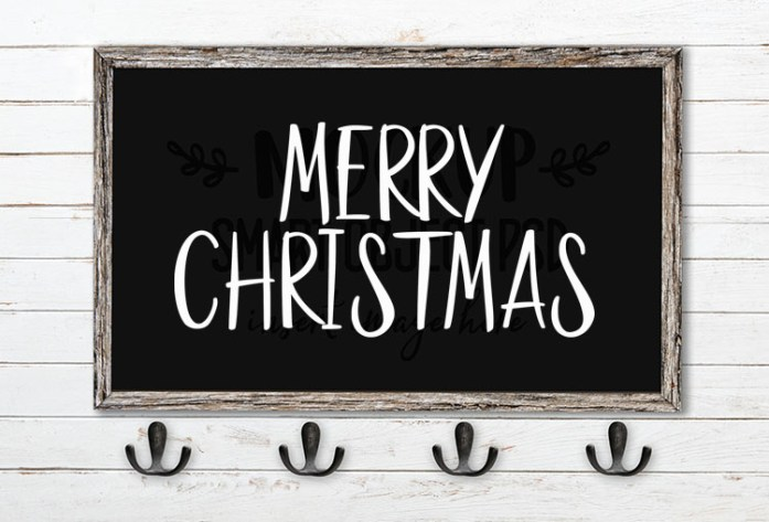 merry christmas svg word art goodies font duo