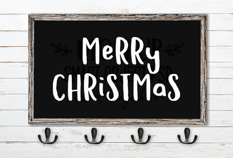 merry christmas svg word art hola bisou fun font