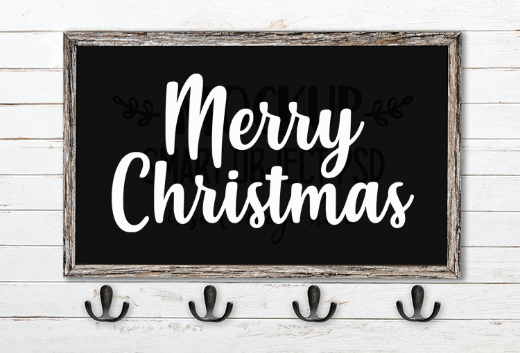 merry christmas svg word art misses