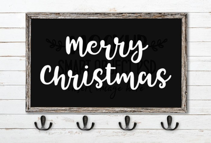 merry christmas svg word art tingler script