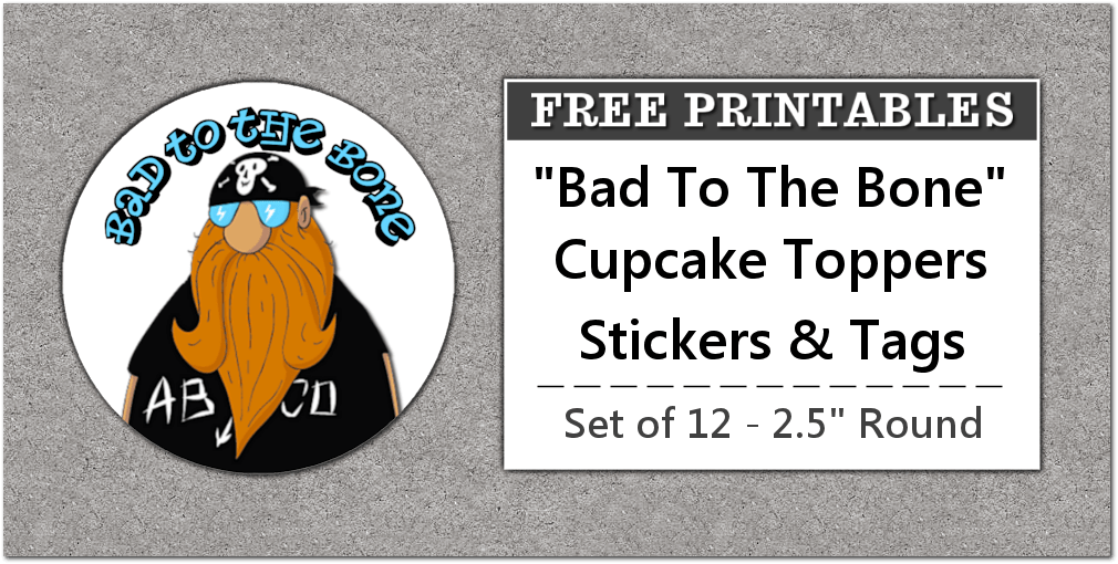 printable biker party favors labels stickers