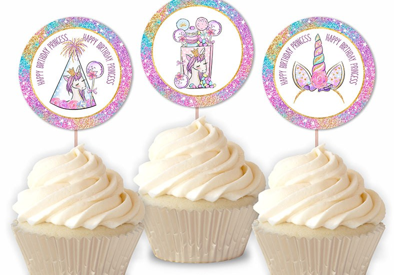 Happy Birthday Little Princess Unicorn Party Printable