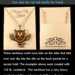 Necklace Card Pocket SVG
