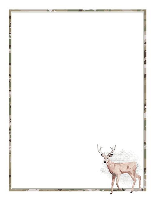 Printable Deer Stationery Paper