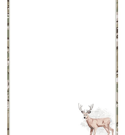 Printable Deer Stationery Paper
