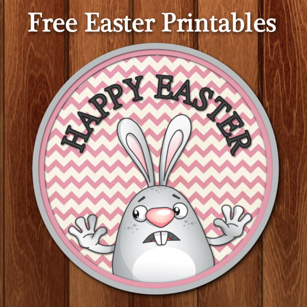 Happy Easter Bunny Stickers Free Download