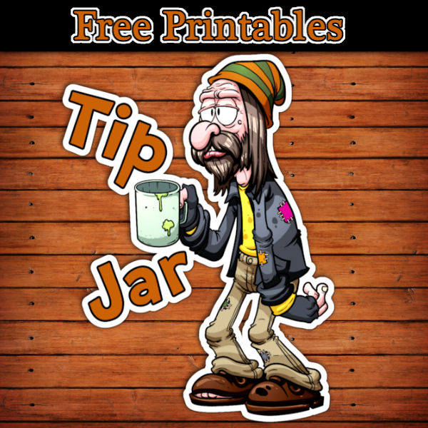 funny tip jar printable label free download